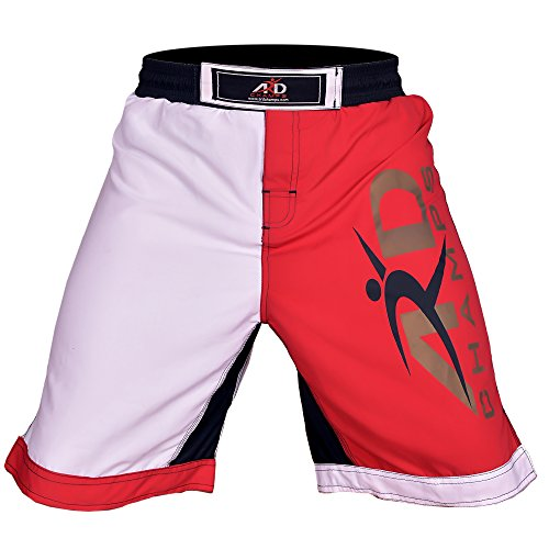 ARD CHAMPS Pro MMA Fight Shorts UFC Cage Fight Grappling Muay Thai Boxing R&W – DiZiSports Store