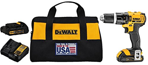 DEWALT DCD785C2 20V MAX Lithium Ion Compact 1.5 Ah Hammer Drill/Driver Kit with DWMT73804 Drive Socket Set (34 Piece), 1/4