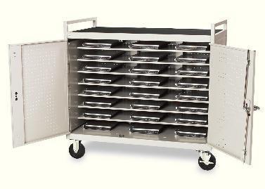 Bretford Laptop Storage Cart LAP24EULBA-GM - notebook - Cart Storage Laptop Bretford Computer