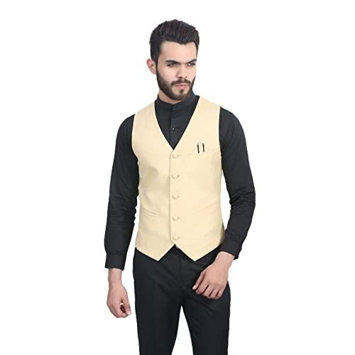 41rUSS1dyIL. SS500  - ManQ Men's Blended Waist Coat