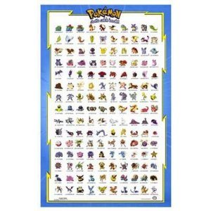 amazon com 23x36 pokemon reference guide tv movie poster 326