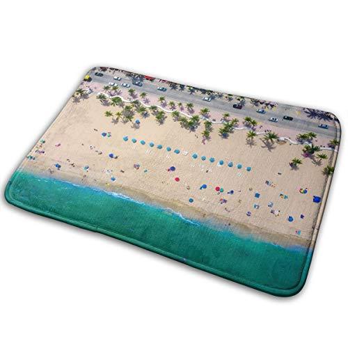 ZYGCMYX Fort Lauderdale Florida Sea Ocean Beach Sand Rectangular Front Welcome Entrance Door Mat Indoors Outdoor ()