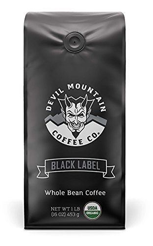 'Black Label' High-Powered Gourmet Coffee - USDA Certified Organic -'The Most Powerful Coffee in the World without compromising on flavor' (Whole Bean) 16 0z.