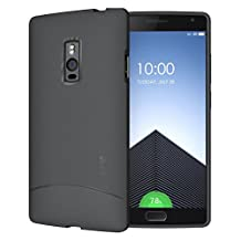 OnePlus 2 Case - TUDIA Ultra Slim Full-Matte ARCH TPU Bumper Protective Case for OnePlus Two (Gray)