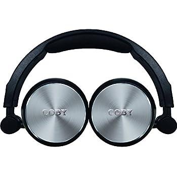 Amazon.com: Coby cvh-801-pnk plegable auriculares estéreo ...
