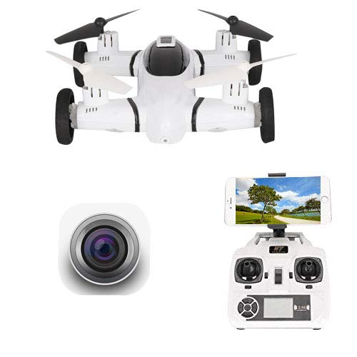 FPV Drone with Camera 720P RC Quadcopter WiFi APP Control Gravity Sensor Bonus Battery Flying RC Car Air-Ground 2 in 1