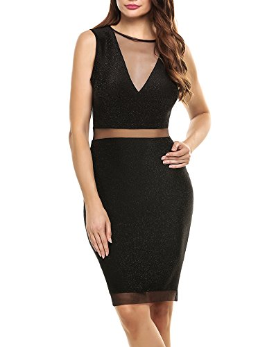 cache black satin dress - 1
