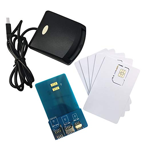 LTE WCDMA ICCID SIM USIM 4G Secure Card Reader Writer Programmer with 5pcs Blank Programable Card + SIM Personalize Tools by XCRFID ()