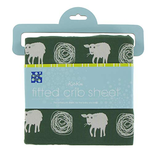 KicKee Pants Little Boys Print Fitted Crib Sheet - Topiary Tuscan Sheep, One Size