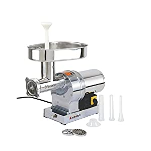 KITCHENER Heavy Duty Commercial Grade Electric Stainless Steel High HP Meat Grinder … (840lbs Per Hour)