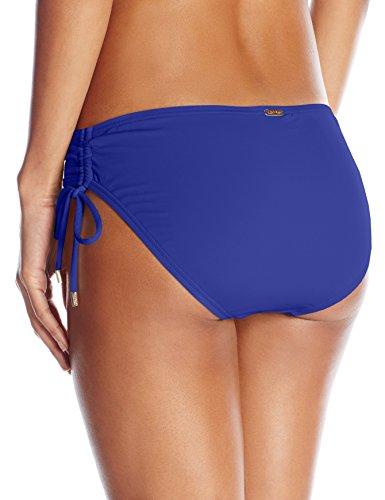 Calvin Klein Women's Side Shirred Hipster Bikini Bottom, Atlantis, Large