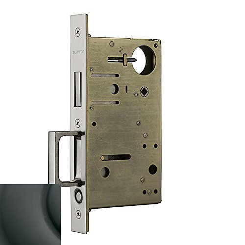 Baldwin 8602102 Mortise Pocket Door Lock Pull44; Oil Rubbed Bronze