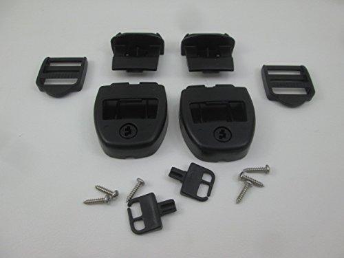 2X Spa Hot Tub Cover Latch Strap Repair Kit & Key Hot Spring Caldera Video How ()