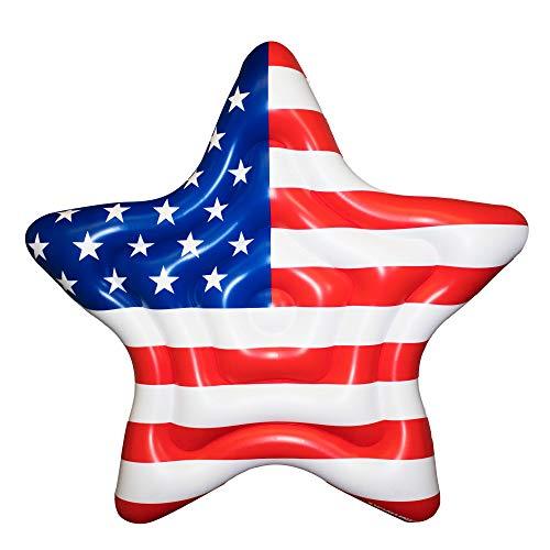 Swimline Americana Star Island Patriotic USA Inflatable Swimming Pool Raft Float (2 Pack)