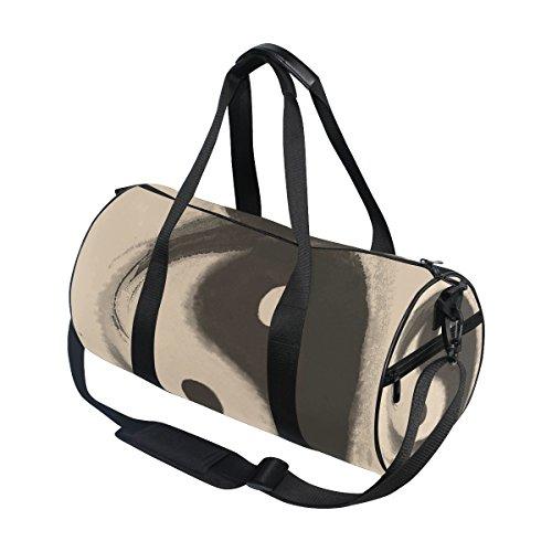 coosun Watercolor Ying Yang Duffle Bag Handlich Sports Gym Bags Schultertasche für Männer und Frauen