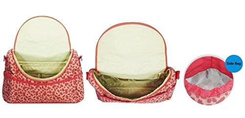 Yvonnelee Hochwertige Isolierfach Mama Handtasche Umhängetasche Schultertasche Wickeltasche Baby Windeltasche Windel Tasche Mummy Bag für Babypflege Nylon Wasserabweisend Leicht Viele Fächer