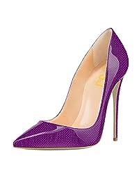 FSJ Fashion Pumps Pointed Toe Stilettos 12CM High Heels Shoes for Women Size 4-15