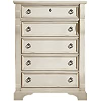 American Woodcrafters 2910 Heirloom Five Drawer Chest Antique White