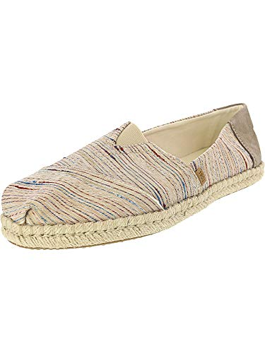 - TOMS Women's Alpargata on Rope Birch Metallic Slub Stripe On Rope 9.5 B US