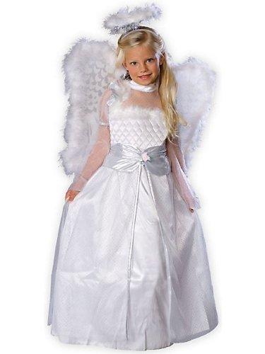 Rubies Girls Angel Dress + Wings Kids Halloween Costume 3-4 (Rosebud Princess Costumes)