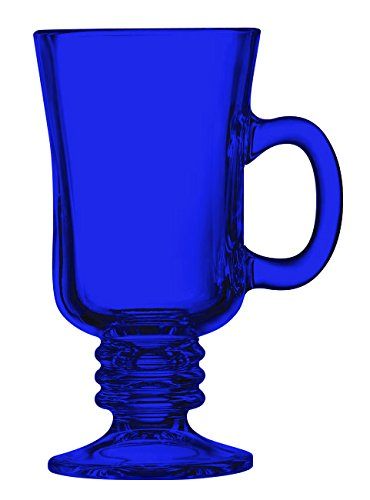 Cobalt Blue Irish Coffee Mug Fully Colored - 8.5 oz. set of 1- Additional Vibrant Colors Available