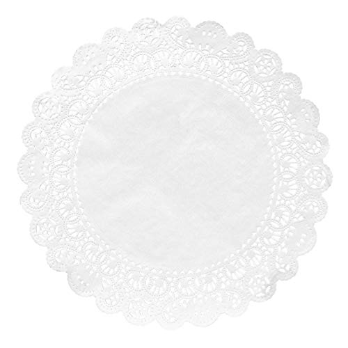 Hygloss Products Round Paper Doilies - Decorative, White Lace Doilies - Disposable - Food Grade Safe - 10 Inches - 100 ()