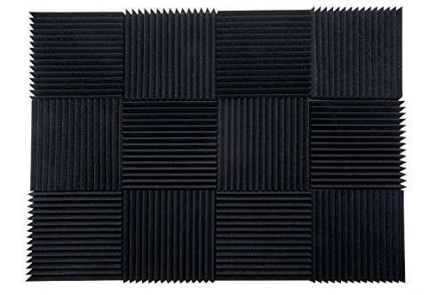 12 Pack 12' X 12' X 1' acoustic foam panels KIT - Remove Noise & Enhance Sound Quality by-beefoam