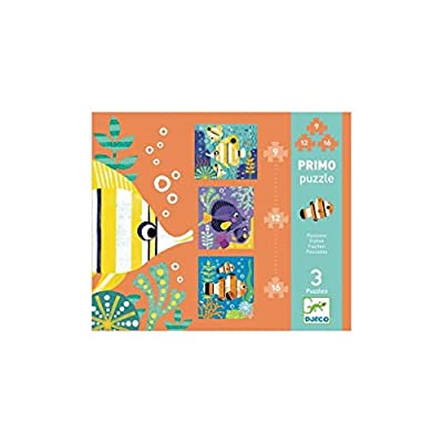 Djeco Primo Puzzle Pesci Dj 07138 3 Puzzle Da 9 12 16 Pezzi Anni 3