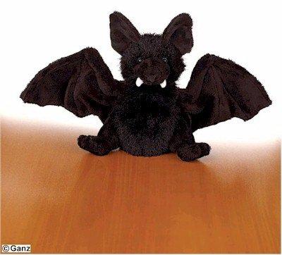 Webkinz Black Bat with Trading -