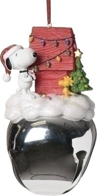 Peanuts Snoopy and Woodstock Extra Large Jingle Bell Christmas Ornament Sleigh Bells Ornament Collection