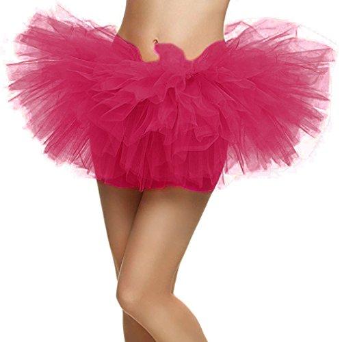 Livingston Womens Adult 5 Layered Tulle Tutu Mini Skirt