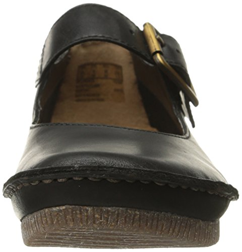 Clarks Janey junio Mary Jane plana Cuero negro