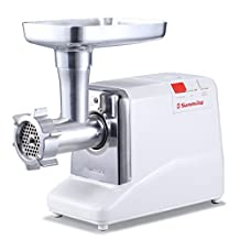 Sunmile SM-G50 ETL Max 1.3HP #12 Powerful Meat Grinder, Metal Gear Box&Gears, REVERSE/CIRCUIT BREAKER Function, Stainless Steel Cutting Blade,3 Stainless Steel Cutting Plates, 3 Sausage Attachments