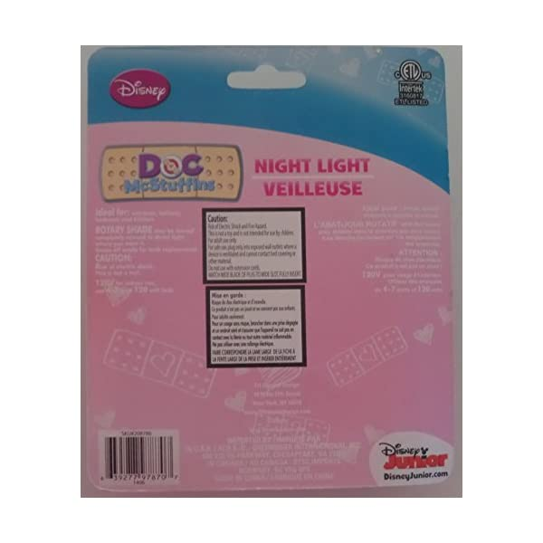 Disney Doc Mcstuffins Night Light, We All Care Together Kids Feel Safe and Secure with This Bright Night Light