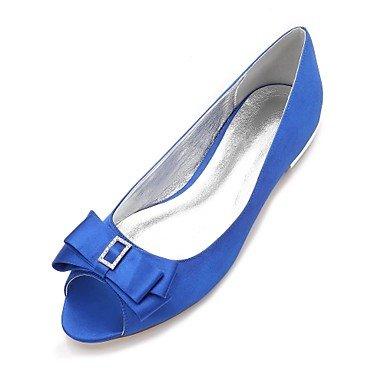 UK10 Ruby Satin Summer Wedding Blue Comfort Wedding CN46 Women'S Bowknot Rhinestone Party Champagne Dress amp;Amp; EU44 Flat US12 Heelivory Shoes Evening Spring qRwnTn4S