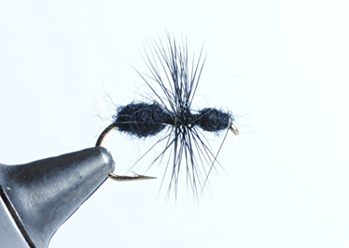 Blue Wing Olive Fur Ant Dry Fly, 6-Pack (Black, 12)