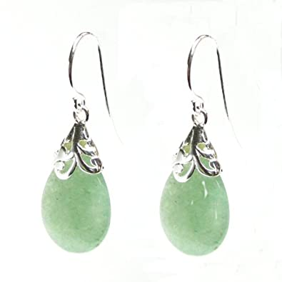 Queenberry Teardrop Sterling Silver Filigree Flower Bail and French Hook Earwires Dangle Earrings