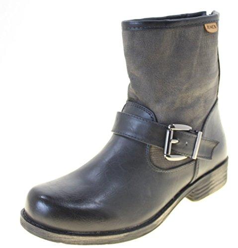 Jumex Ankle Boots Calçados Femininos Cor Preta