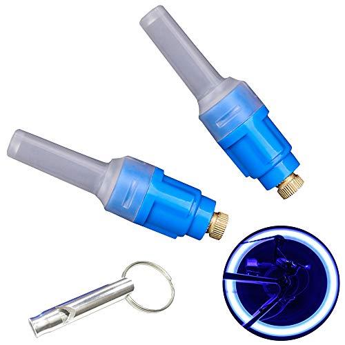 Vabration Sensor Waterproof Shockproof Lamp Bicycle Wheel Neon Tire Valve Led Light 2 pieces (Blue color - Blue light)