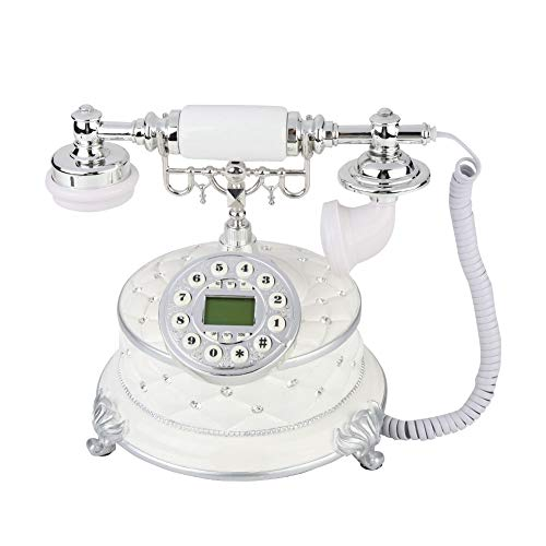 Focket Vintage Telephone,Antique Rotary Dial Plate Antique Landline Phone,Classic European Retro Telephone for Home, Office, Luxury Home, Star Hotel, Art Gallery from Focket