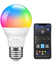 Govee LED Light Bulb, Bluetooth Light Bulb A19 7W 60W Equivalent, Music Sync, Dimmable RGB Color Changing Light Bulb for Party, Timer for Sunrise and Sunset Mode