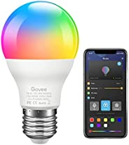 Govee LED Light Bulb, Bluetooth Light Bulb A19 7W 60W Equivalent, Music Sync, Dimmable RGB Color Changing Ligh