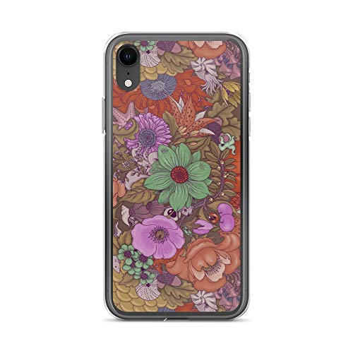 iPhone XR Case Anti-Scratch Creature Animal Transparent Cases Cover The Wild Side in Autumn Tones Animals Fauna Crystal Clear