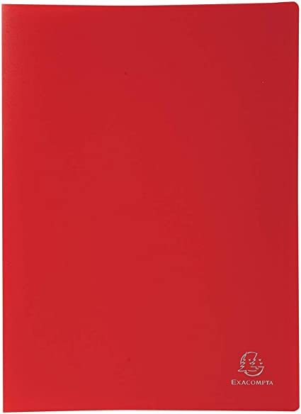 Exacompta 85105E - Carpeta de 100 fundas PVC, A4, color rojo ...