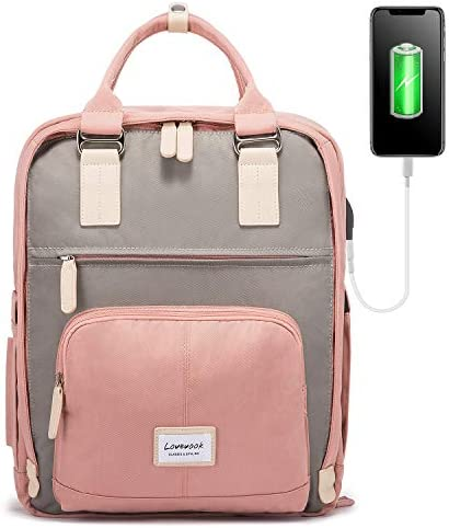 LOVEVOOK Laptop Backpack for Men and Women School Backpack with Laptop Compartment 15.6 Inch Bookbag for Boys and Girls work Travel Backpack Pink
