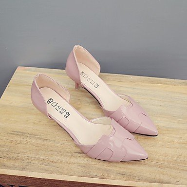 LvYuan-GGX Damen High Heels PU Frühling Weiß Grau Rosa Flach Weiß us7.5   eu38   uk5.5   cn38