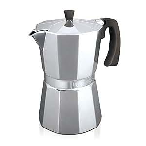 Monix Vitromax Induction 12 - Cafetera (Aluminio, Estufa, De café molido, Café expreso, Café expreso)