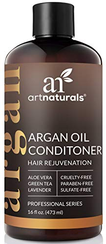 (ArtNaturals Argan Hair Growth Conditioner - (16 Fl Oz / 473ml) - Sulfate Free - Treatment for Hair Loss, Thinning & Regrowth - Men & Women - Infused with Biotin, Argan Oil, Keratin, Caffeine)