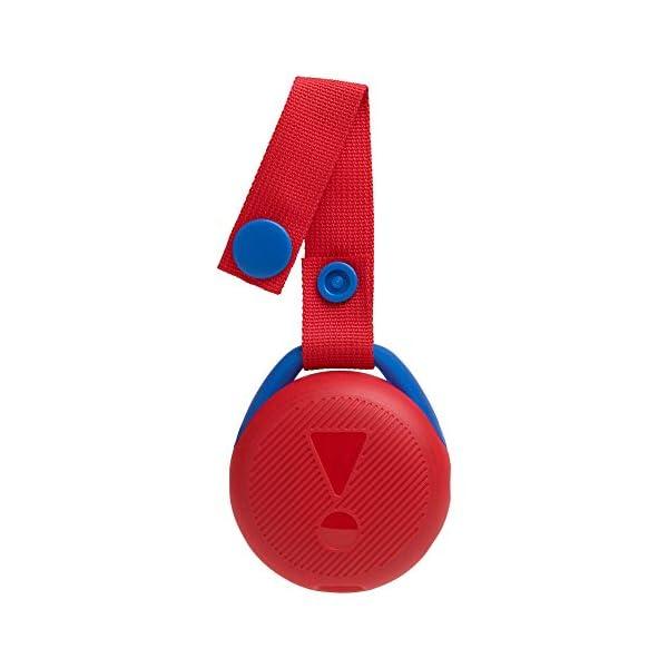 JR POP JBL - Enceinte portable pour enfants - Bluetooth & Waterproof - Avec modes lumineux multicolores & autocollants - Autonomie 5 hrs - Rouge 5
