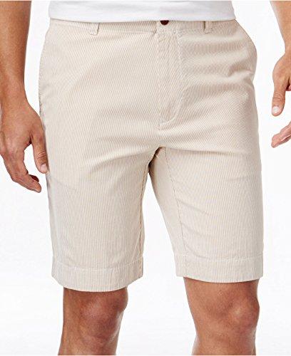 - Tommy Hilfiger Mens Seersucker Striped Casual Shorts Tan 42